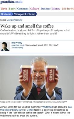 Guardian Online: Andy Harrison, Whitbread CEO
