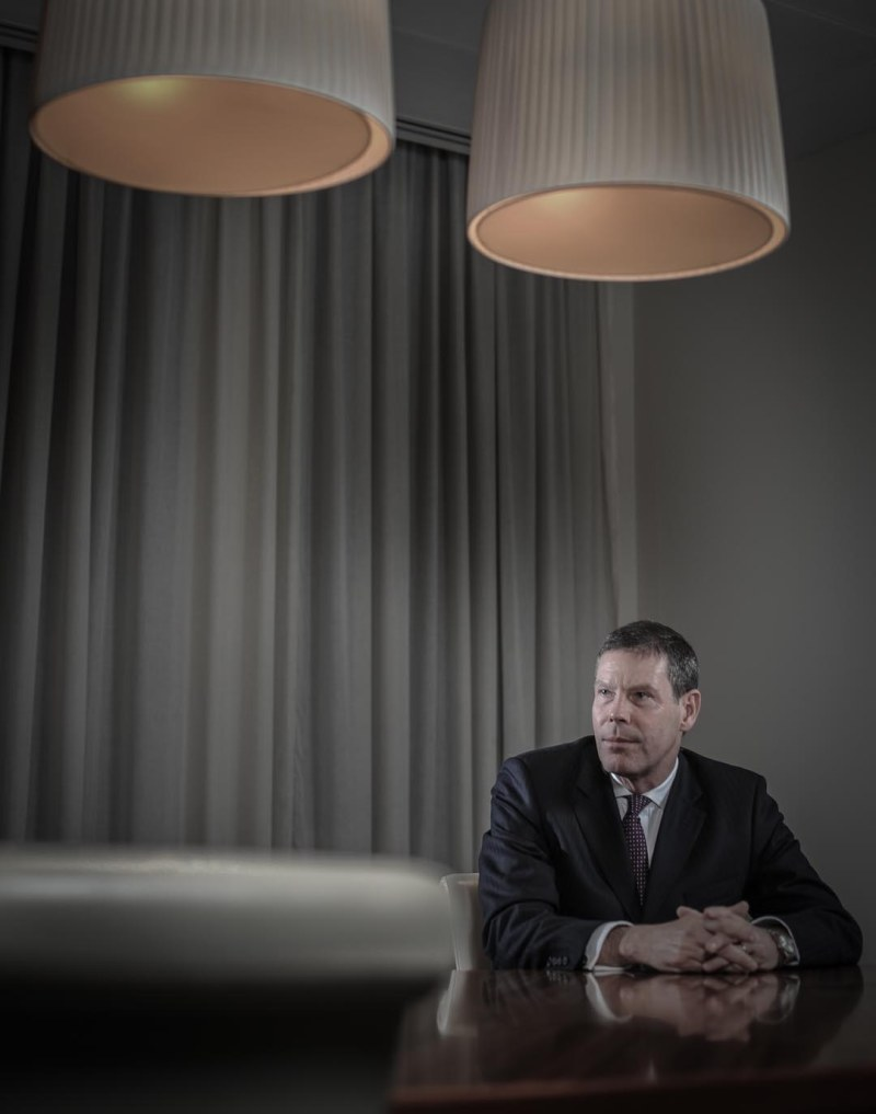 This is a corporate portrait I photographed just before Christmas in the City  © Daniel Lewis 2012