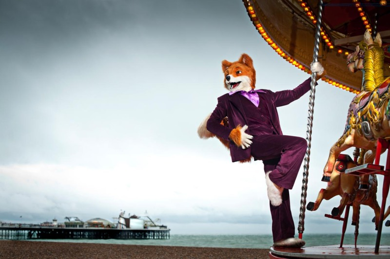 Foxy in Brighton on the first day of the week long shoot.