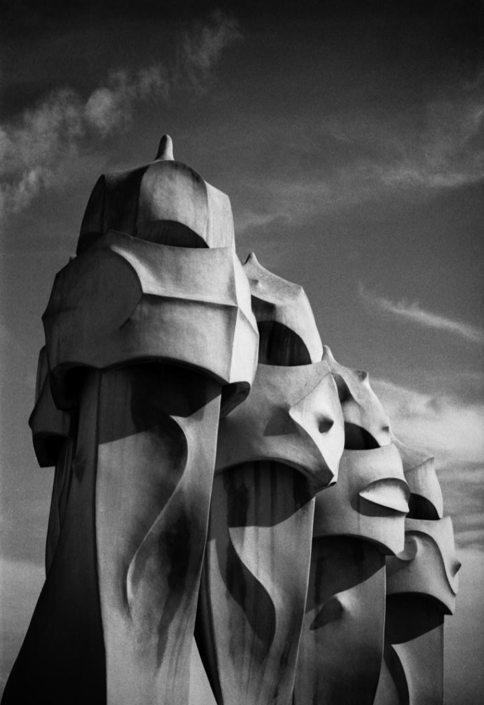 The mysterious sculptures on top of Gaudi's La Pedrera apartment building.  © Daniel Lewis 2013