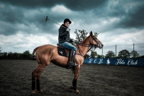 England Polo Captain Jamie Morrison at the Royal Berkshire Polo Club/ Gaucho © Daniel Lewis 2013