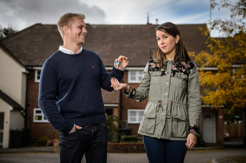 Promotional images of Charley & Chris for 'Honey I Bought the House'