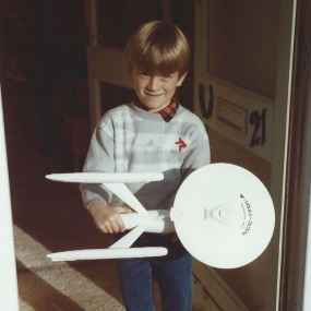 Me with my Starship Enterprise in the '80s