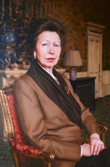 Isobel's portrait of HRH The Princess Royal